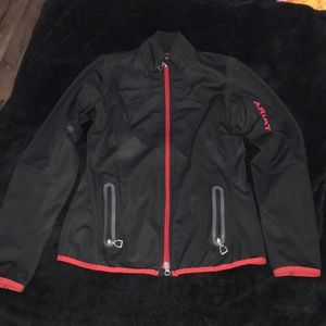 ariat light jacket black and red